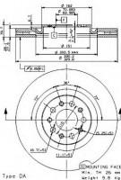 Комплект тормозных дисков BREMBO 09.9365.20 (2 шт.)