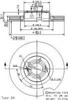 Комплект тормозных дисков BREMBO 09.9534.14 (2 шт.)