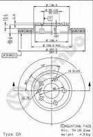 Комплект тормозных дисков BREMBO 09.9631.34 (2 шт.)