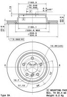 Комплект тормозных дисков BREMBO 09.A270.10 (2 шт.)