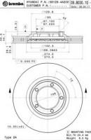 Комплект тормозных дисков BREMBO 09.B030.10 (2 шт.)