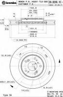 Комплект тормозных дисков BREMBO 09.B269.10 (2 шт.)