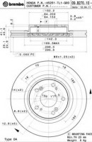 Комплект тормозных дисков BREMBO 09.B270.10 (2 шт.)