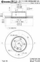 Комплект тормозных дисков BREMBO 09.B337.21 (2 шт.)