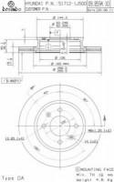 Комплект тормозных дисков BREMBO 09.B594.10 (2 шт.)