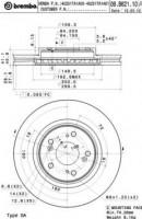 Комплект тормозных дисков BREMBO 09.B621.10 (2 шт.)
