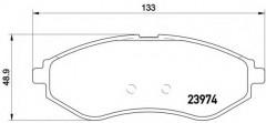 Тормозные колодки BREMBO P 24 048, дисковые