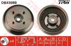 Тормозной барабан TRW DB4308B