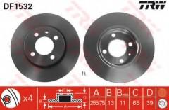 Комплект тормозных дисков TRW DF1532 (2 шт.)