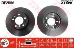 Комплект тормозных дисков TRW DF2556 (2 шт.)