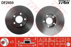 Комплект тормозных дисков TRW DF2650 (2 шт.)