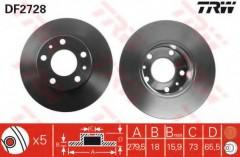 Комплект тормозных дисков TRW DF2728 (2 шт.)