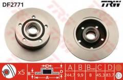 Комплект тормозных дисков TRW DF2771 (2 шт.)