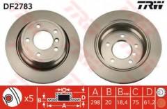 Комплект тормозных дисков TRW DF2783 (2 шт.)