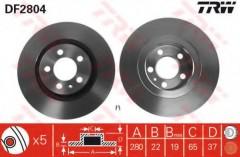 Комплект тормозных дисков TRW DF2804 (2 шт.)