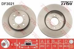 Комплект тормозных дисков TRW DF3021 (2 шт.)