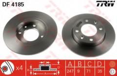 Комплект тормозных дисков TRW DF4185 (2 шт.)