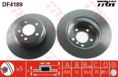 Комплект тормозных дисков TRW DF4189 (2 шт.)