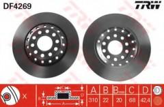 Комплект тормозных дисков TRW DF4269 (2 шт.)