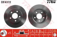 Комплект тормозных дисков TRW DF4372 (2 шт.)