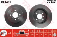 Комплект тормозных дисков TRW DF4401 (2 шт.)