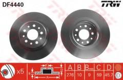 Комплект тормозных дисков TRW DF4440 (2 шт.)