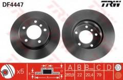 Комплект тормозных дисков TRW DF4447 (2 шт.)