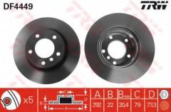 Комплект тормозных дисков TRW DF4449 (2 шт.)