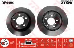 Комплект тормозных дисков TRW DF4450 (2 шт.)