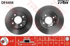 Комплект тормозных дисков TRW DF4458 (2 шт.)