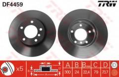 Комплект тормозных дисков TRW DF4459 (2 шт.)