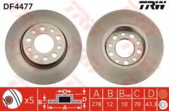 Комплект тормозных дисков TRW DF4477 (2 шт.)