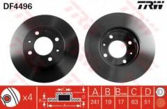 Комплект тормозных дисков TRW DF4496 (2 шт.)
