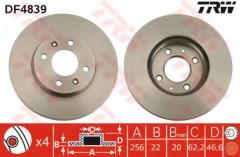 Комплект тормозных дисков TRW DF4839 (2 шт.)