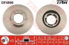 Комплект тормозных дисков TRW DF4896 (2 шт.)