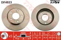 Комплект тормозных дисков TRW DF4933 (2 шт.)