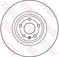 Комплект тормозных дисков TRW DF6041S (2 шт.)