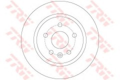 Комплект тормозных дисков TRW DF6340 (2 шт.)