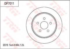 Комплект тормозных дисков TRW DF7011 (2 шт.)