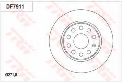 Комплект тормозных дисков TRW DF7911 (2 шт.)