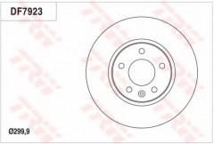 Комплект тормозных дисков TRW DF7923 (2 шт.)