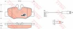 Тормозные колодки TRW GDB1601, дисковые