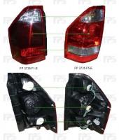 Фонарь задний для Mitsubishi Pajero Wagon 3 '03-07 левый (DEPO) светло-красный, на крыле