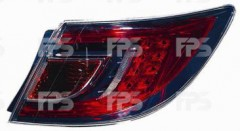 Фото 1 - Фонарь задний для Mazda 6 '08-10 хетчбек/седан правый (DEPO) внешний, красный Led