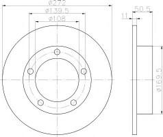 Комплект тормозных дисков TEXTAR 92019900 (2 шт.)