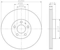 Комплект тормозных дисков TEXTAR 92046803 (2 шт.)