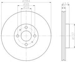 Комплект тормозных дисков TEXTAR 92053503 (2 шт.)