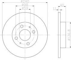 Комплект тормозных дисков TEXTAR 92061103 (2 шт.)