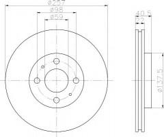 Комплект тормозных дисков TEXTAR 92069603 (2 шт.)