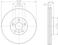 Комплект тормозных дисков TEXTAR 92074003 (2 шт.)